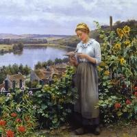 Daniel Rigday Knight- femei si flori