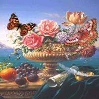 Fluturi si flori