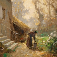 EDOUARD LEON CORTES PAINTER