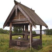 Traditie in lemn , la Manastirea din Kiji-Rusia!