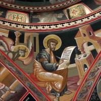 Biserica Botezul Domnului Prodromu Athos - Fresca