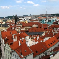 Praga - vederi din  turnul vechii primarii