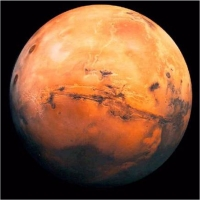 Planeta Marte la 27 august