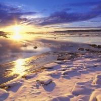 Apus de soare iarna