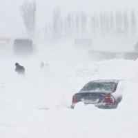 Tempete de neige en Roumanie
