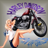 Harley Davidson Pin Up Girls