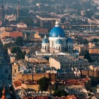 St. Petersburg vue d'un dirigeable