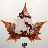 pictura pe frunze