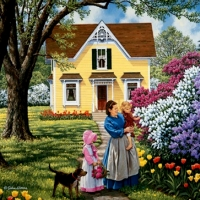 Country life by John Sloane USA 2