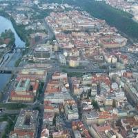 Praha ze vzducholodi