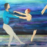 """Pictand tabloul """"Gratia si frumusetea baletului!"""""""