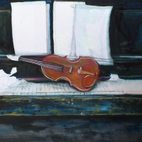 "Pictand tabloul ""Ambientul muzicii  clasice!"""