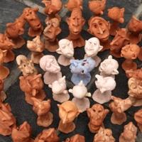 figurine din lut