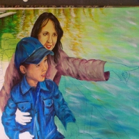 """Pictand tabloul """"Prima plimbare cu vaporasul pe lacul Herastrau!""""!"""