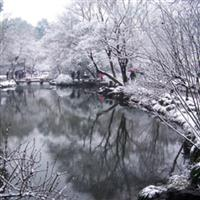 Chinese classical gardens of snow