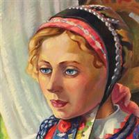 La femme en rouge68, Romanian painters