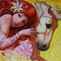 La femme en rouge70, Romanian painters