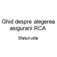 Ghid despre alegerea asigurarii RCA