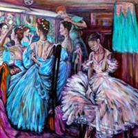 Pictand tabloul In vestiarul balerinelor!