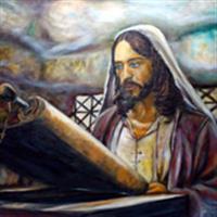"""Pictand tabloul """"Iisus indeplinind profetiile!"""""""