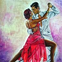 """Pictand tabloul  """"Tango cu pasiune, expresivitate, romantism!"""""""