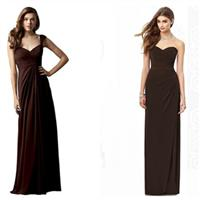 Brown bridesmaid dresses from Queeniebridesmaid