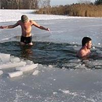 Iarnă rusească-Baie la copcă