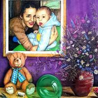 Pictand tabloul Mama si copilul, preocupari, afinitati, rezonante!