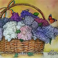 Pictand tabloul Parfumul florilor de liliac romanesc!