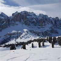 Cu Nikonul la skiat.Alta Badia.