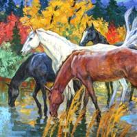 Ploaie de toamna in pictura -Stanislav Sidorov