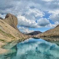 Din perlele Dolomitilor.Lacul d´Antermoia.