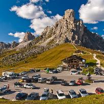 Zile de toamna in Dolomiti.Trecatori alpine.