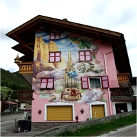 Painted houses in Bavaria