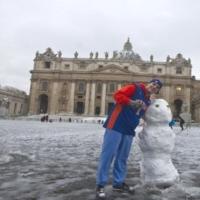 Chutes de neige à Rome aujourd'hui