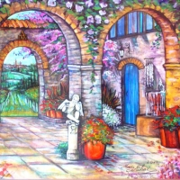 Pictand tabloul Bella Toscana!