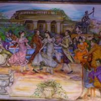 Pictand tabloul Dansul Minuet in epoca lui de glorie!