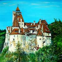 Pictand tabloul Castelul Bran!