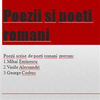 Poezii si Poeti romani