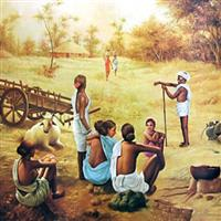 Indian village life paintings