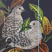 Pasari si flori in pictura-Frank Gonzales