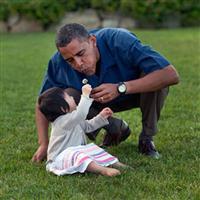 Barack Obama și copiii